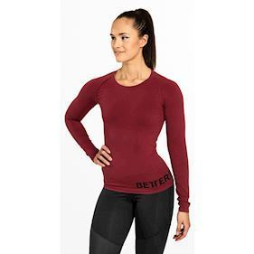 Better Bodies Nolita seamless Long Sleeve Sangria Red