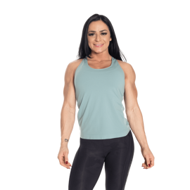 Better Bodies Seamless Mesh Tank Teal Green