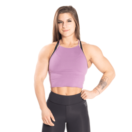 Better Bodies Performance Crop Halter Strong Purple