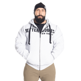 Better Bodies Graphic Hoodie Grey Melange