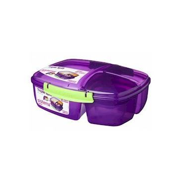 Sistema Triple Split Lunch Box with Yogurt Pot - 2L