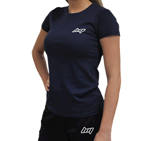 BM Lady Fitted T-Shirt Blue Navy
