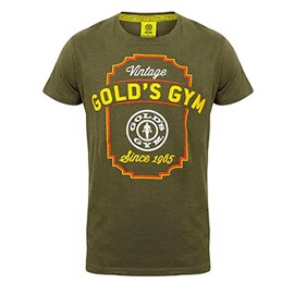 Golds Gym Printed Vintage Style T-shirt Army Marlin