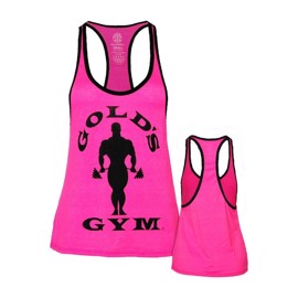 Gold's Gym Ladies Silhouette Stringer - Neon Pink/Black