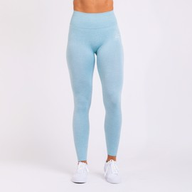 BM Seamless Ribbed High Waist Tights Sky Blue