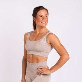 BM Seamless Ribbed Sports Bra Khaki