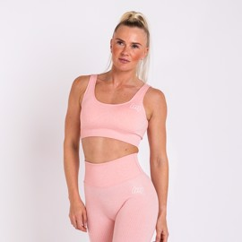 BM Seamless Ribbed Sports Bra Pink