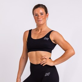 BM Seamless Ribbed Sports Bra Black