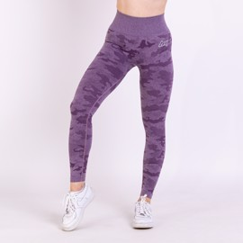 BM Seamless High Waist Tights Purple Camo