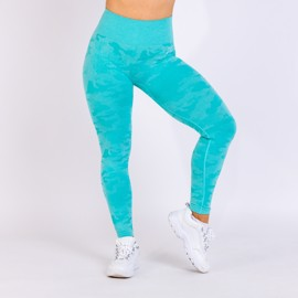 BM Seamless High Waist Tights Turquoise Camo