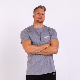 BM Mens Fitted T-Shirt Oxford Grey