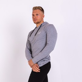 BM Hooded Long Sleeve Oxford Grey