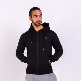 BM Sport Hooded Zip Sweat Black