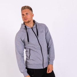 BM Sport Hooded Zip Sweat Oxford Grey