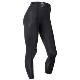 Mid-Rise Compression Tights - Black/Dotted Black logo