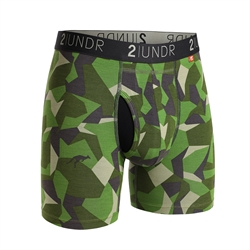 2UNDR Swing Shift Boxers Green Camo