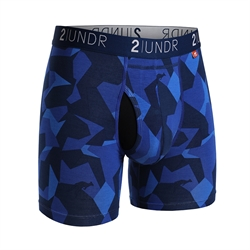 2UNDR Swing Shift Boxers Blue Camo