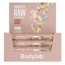 Bodylab Honestly Raw Coconut and Cashews 12x45g