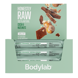 Bodylab Honestly Raw Cocoa and Hazelnuts 12x45g