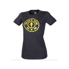 Gold's Gym Ladies Stronger Than Yesterday T-shirt Carcoal Heather