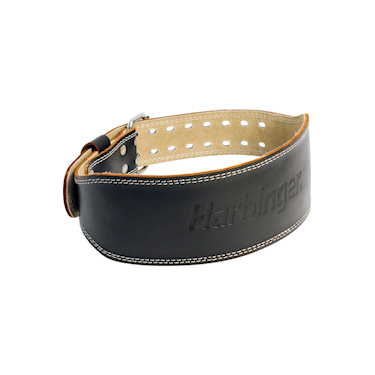 "Harbinger 4"" Padded Leather Belt Black"