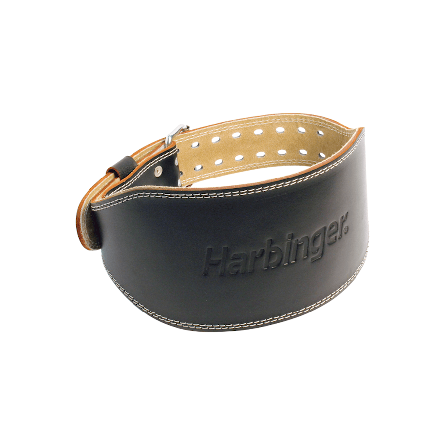 "Harbinger 6"" Padded Leather Belt Black"