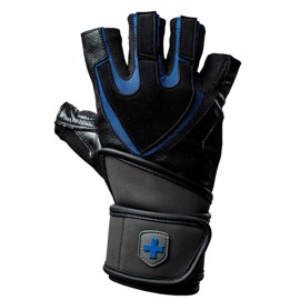Harbinger Traning Grip Wristwrap - Black/Blue
