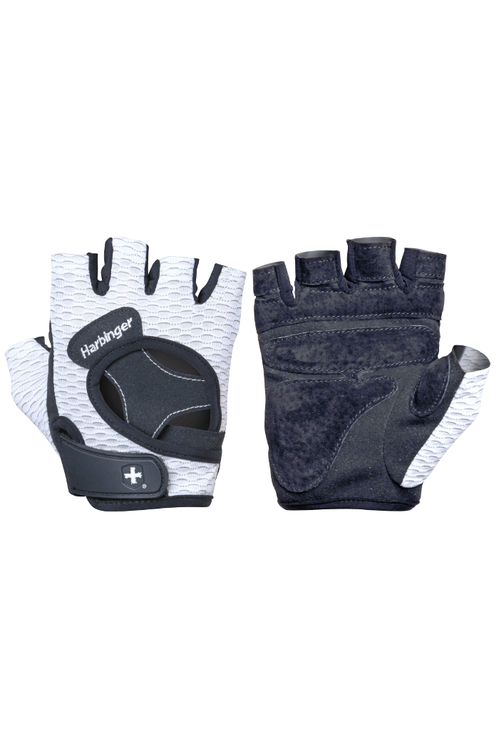 Harbinger Womens FlexFit Gloves White