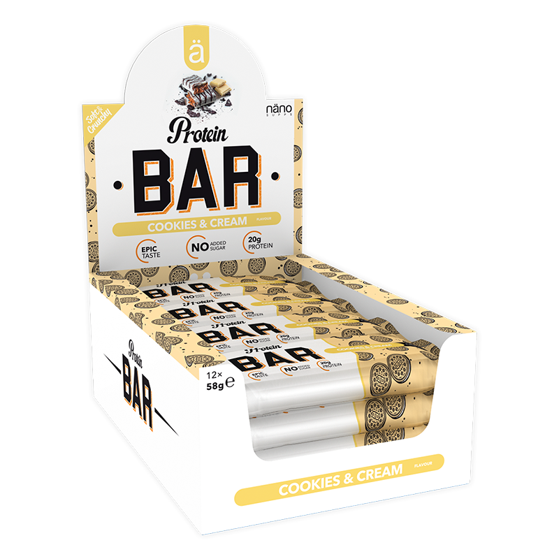 Näno Supps Protein Bar Cookies & Cream 12x58g