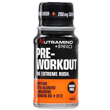 Nutramino +Pro Pre-Workout Shot Orange 60ml – 12 st