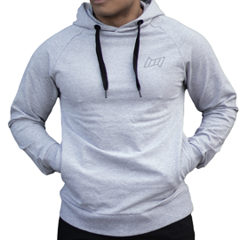 BM Sport Hooded Sweat Oxford Grey