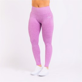 BM Seamless Ribbed High Waist Tights Purple