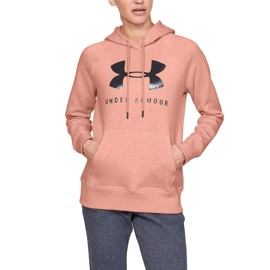 Under Armour Rival Fleece Sportstyle Graphic Hoodie Pink