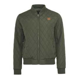 Urban Classics Diamond Quilt Nylon Jacket Olive