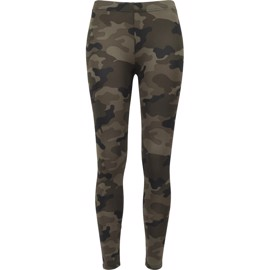 Urban Classics Ladies Camo Leggings Wood Camo