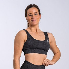 BM Seamless Ribbed Sports Bra Dark Grey