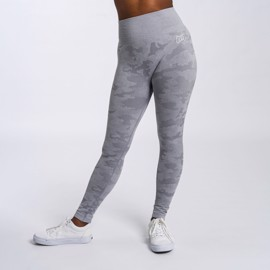 BM Seamless High Waist Tights Light Grey Camo