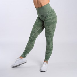 BM Seamless High Waist Tights Green Camo