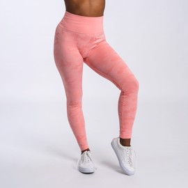 BM Seamless High Waist Tights Peach Camo