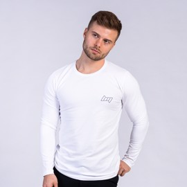 BM Shape Tee Long Sleeve White