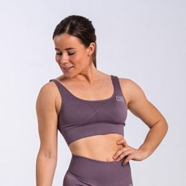 BM Seamless Ribbed Sports Bra Deep Purple